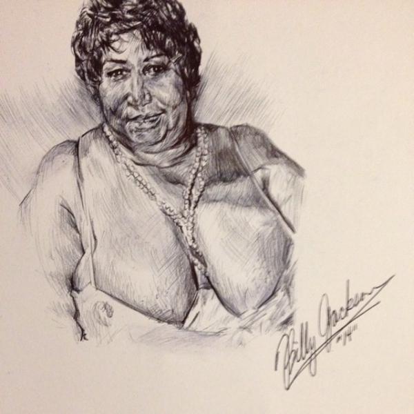Aretha Franklin by billyhjackson